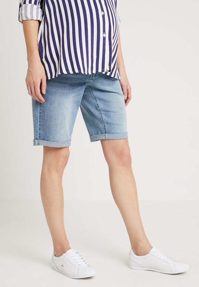 EXCLUSIVE MID BOY - Jeansshorts - light washed