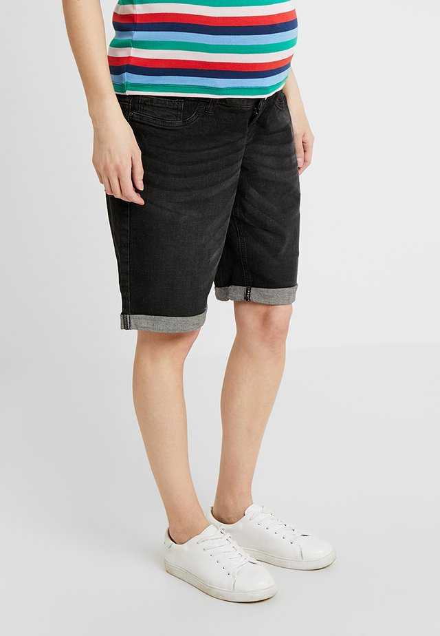 EXCLUSIVE MID BOY - Jeansshorts - washed black