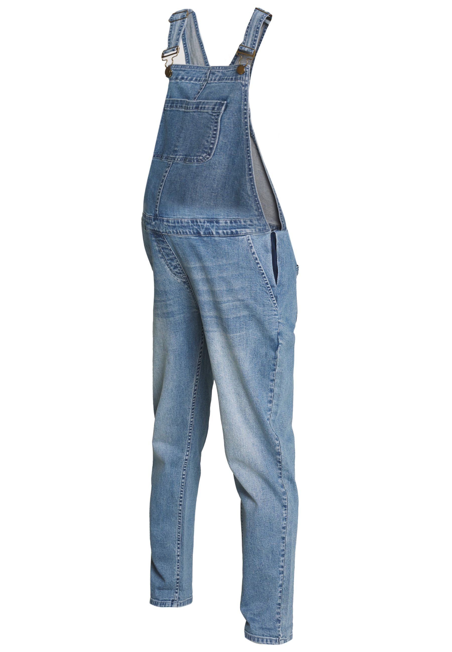 Forever Fit Dungaree - Hängselbyxor Mid Blue Wash
