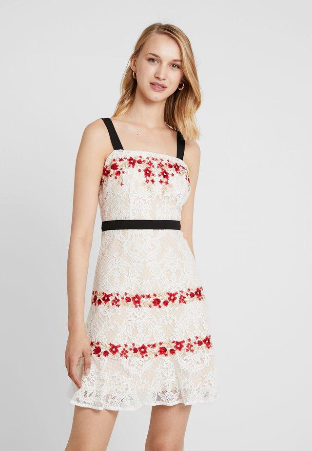 PALOMA DRESS - Juhlamekko - white multi
