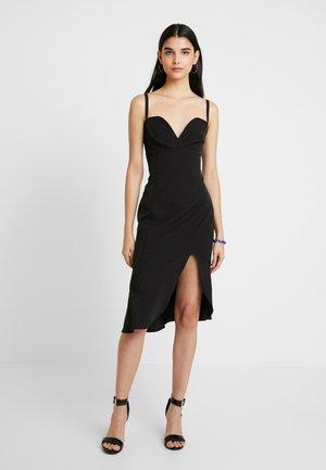 CARMINE MIDI DRESS - Sukienka koktajlowa - black