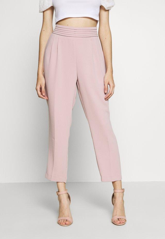 DRAPE PANT - Spodnie materiałowe - blush