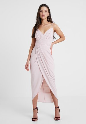 CHARLOTTE DRAPE DRESS - Cocktailjurk - nude
