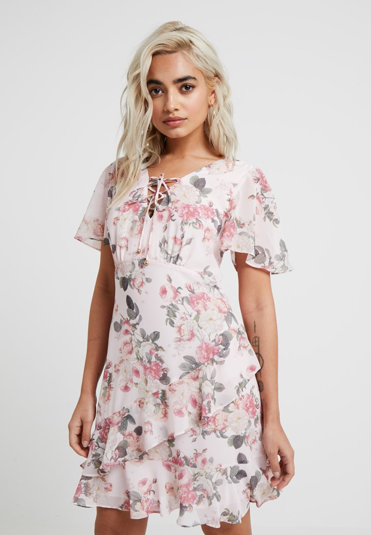 Forever New Petite - BAILEE FLORAL TEA DRESS - Hverdagskjoler - multi-coloured