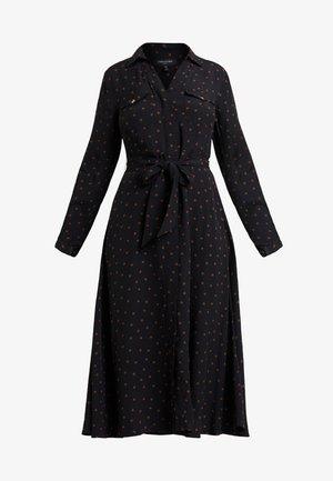 PRINTED DRESS - Vestido largo - black/rust