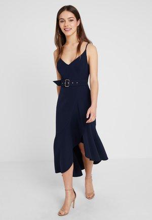 FRILL DRESS - Occasion wear - navy