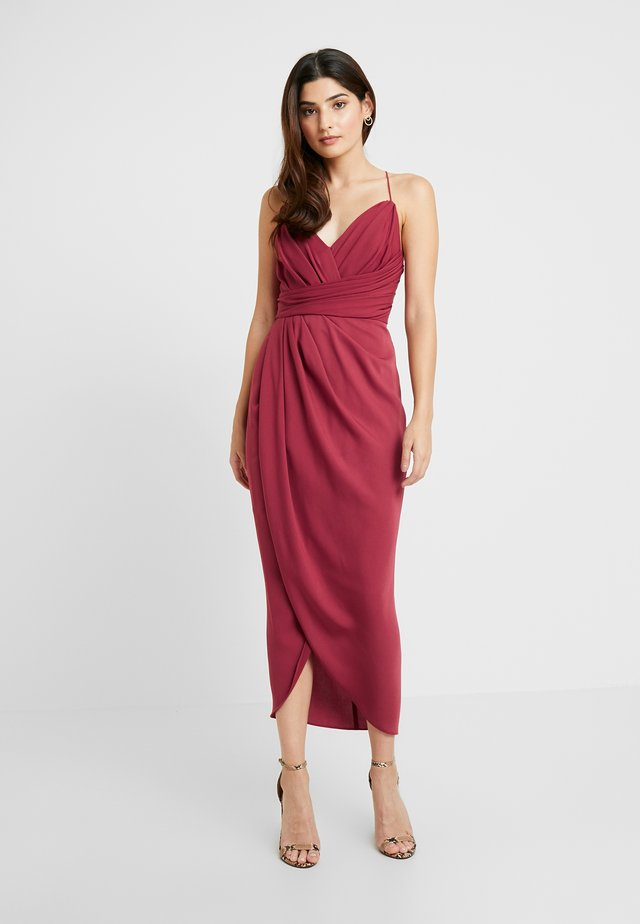 CHARLOTTE DRAPE DRESS - Cocktail dress / Party dress - burnt red