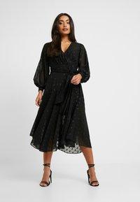 Forever New Petite - SIENNA MIDI DRESS - Cocktailkleid/festliches Kleid - black - 0
