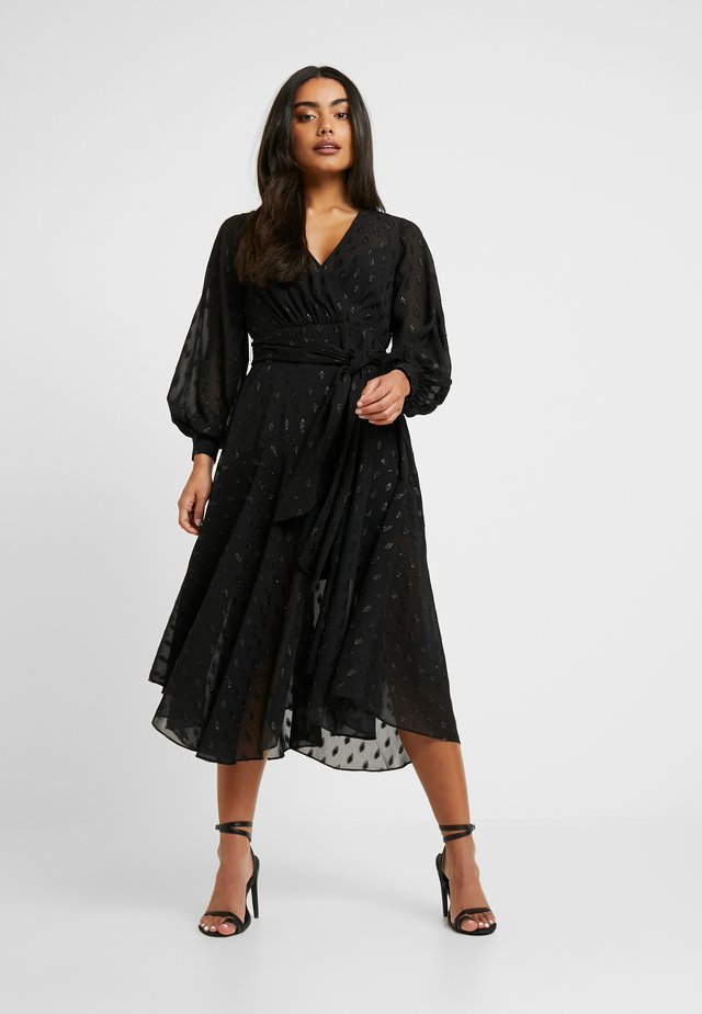 SIENNA MIDI DRESS - Cocktailklänning - black