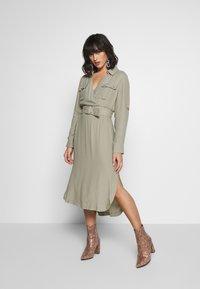 Forever New Petite - IMOGEN SAFARI SHIRT DRESS - Day dress - gentle khaki - 1