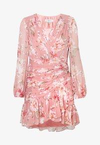 Forever New Petite - RUCHED WRAP FRILL DRESS - Vestido informal - burnt sienna - 4