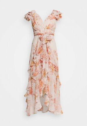 RUFFLE MAXI DRESS  - Sukienka koktajlowa - orange