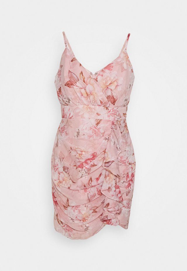 AUDRINA RUCHED DRESS - Korte jurk - pink floral