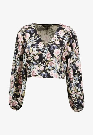 PRINTED WRAP BLOUSE - Blouse - multicoloured