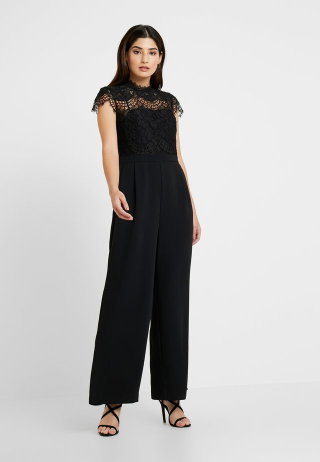 LEONA WIDE LEG - Kombinezon - black