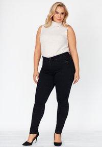 FOX FACTOR - Slim fit jeans - cosmic black - 1