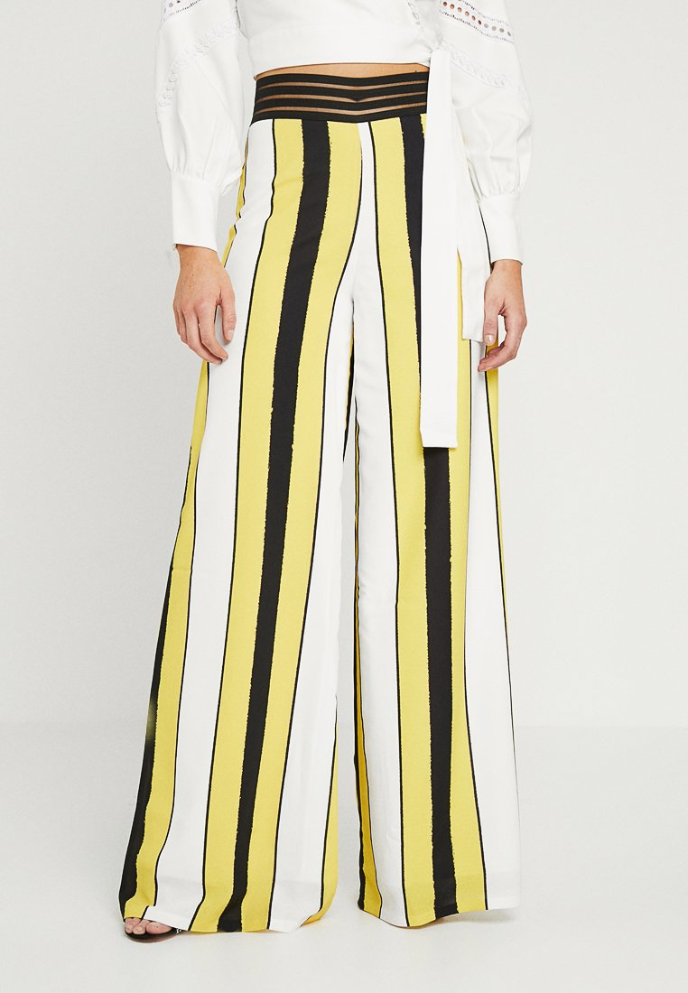 Forever Unique Main Collection - VIDA - Trousers - ivory/yellow/black