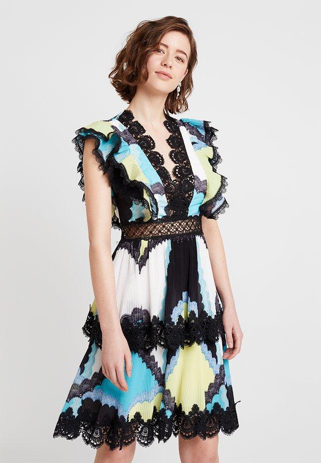 SOL - Cocktailkleid/festliches Kleid - turquoise/yellow/blue