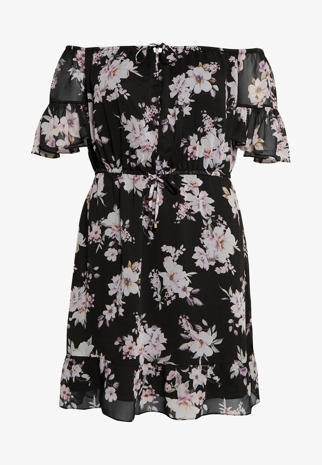 ZOEY FLARE SLEEVE BARDOT CURVE DRESS  - Sukienka letnia - midnight bloom