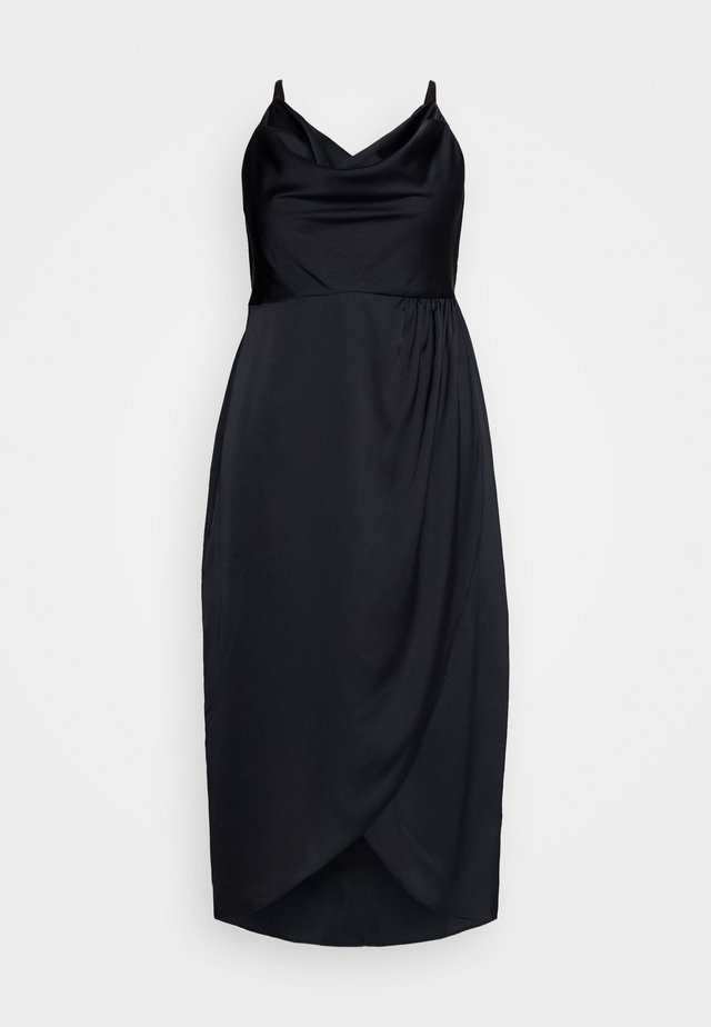HOLLY COWL NECK MIDI DRESS - Cocktailklänning - navy