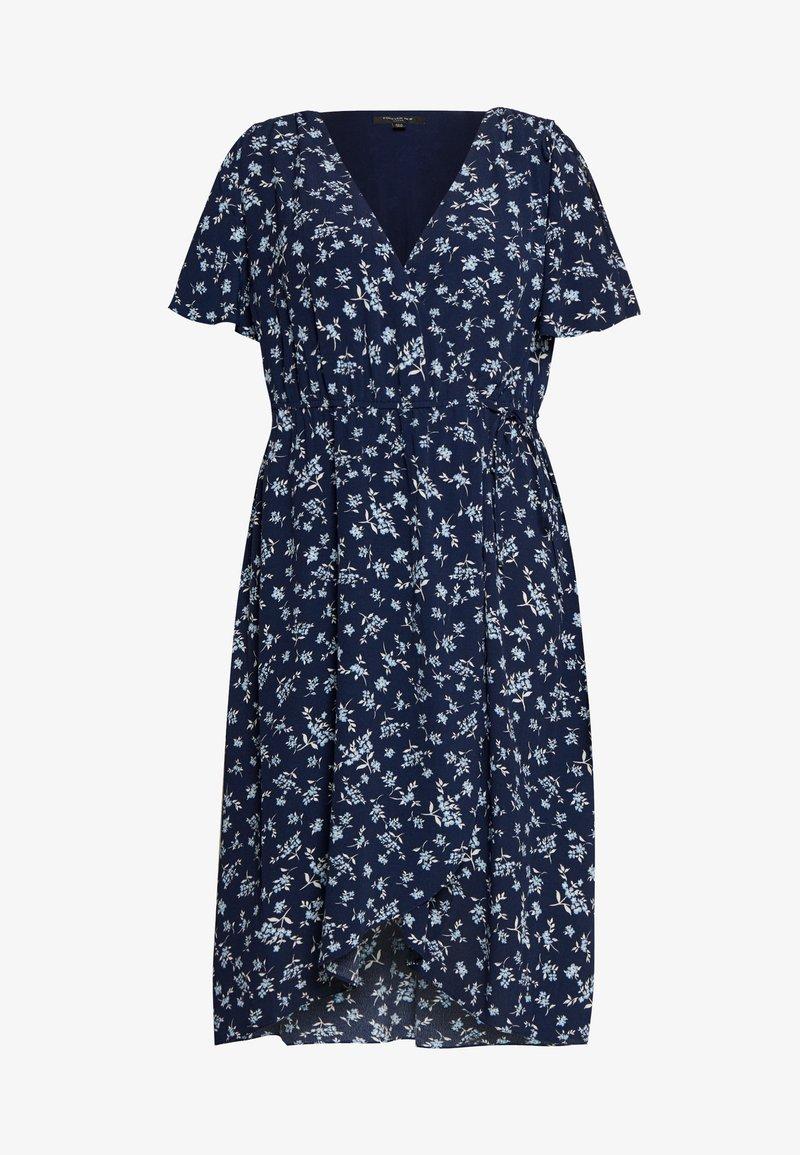 Forever New Curve - OLLIE SHIRRED CURVE WRAP DRESS - Day dress - jasmine white