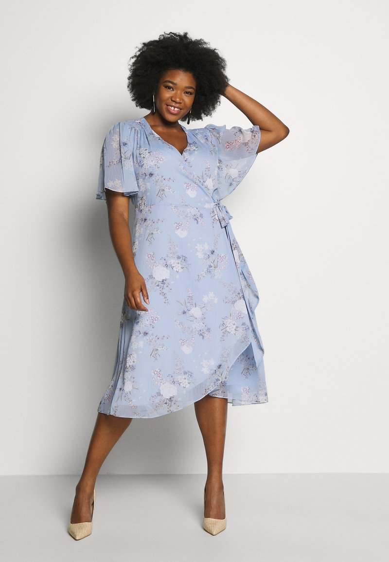 Forever New Curve - EBONY RUCHED - Day dress - dusty bluebell floral