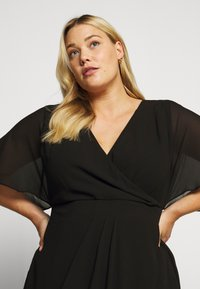 Forever New Curve - TORI SLEEVED WRAP OVER DRESS - Robe d'été - black - 3