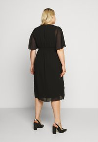 Forever New Curve - TORI SLEEVED WRAP OVER DRESS - Robe d'été - black - 2