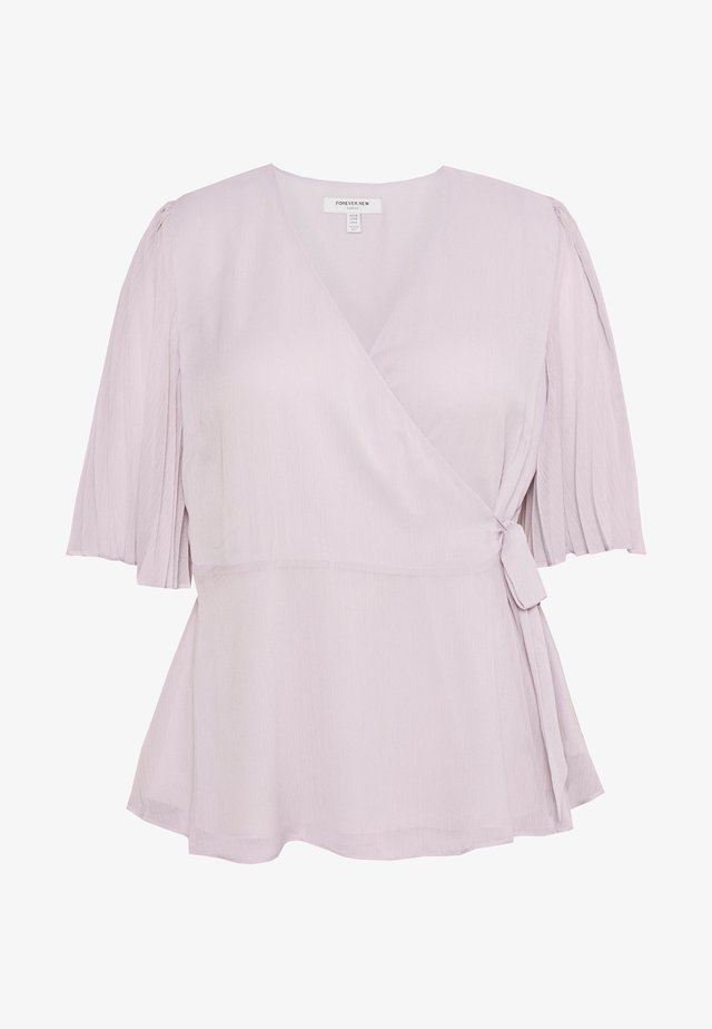 THEA PLEAT SLEEVE WRAP BLOUSE - Blus - lady luna