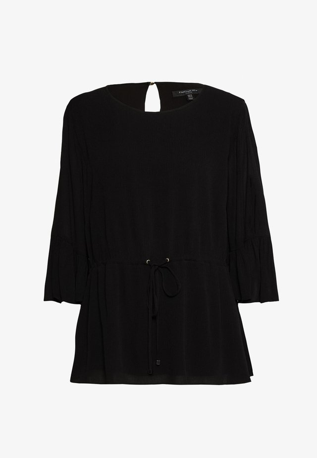 TAMMY FRILL SLEEVE CURVE BLOUSE - Blus - black