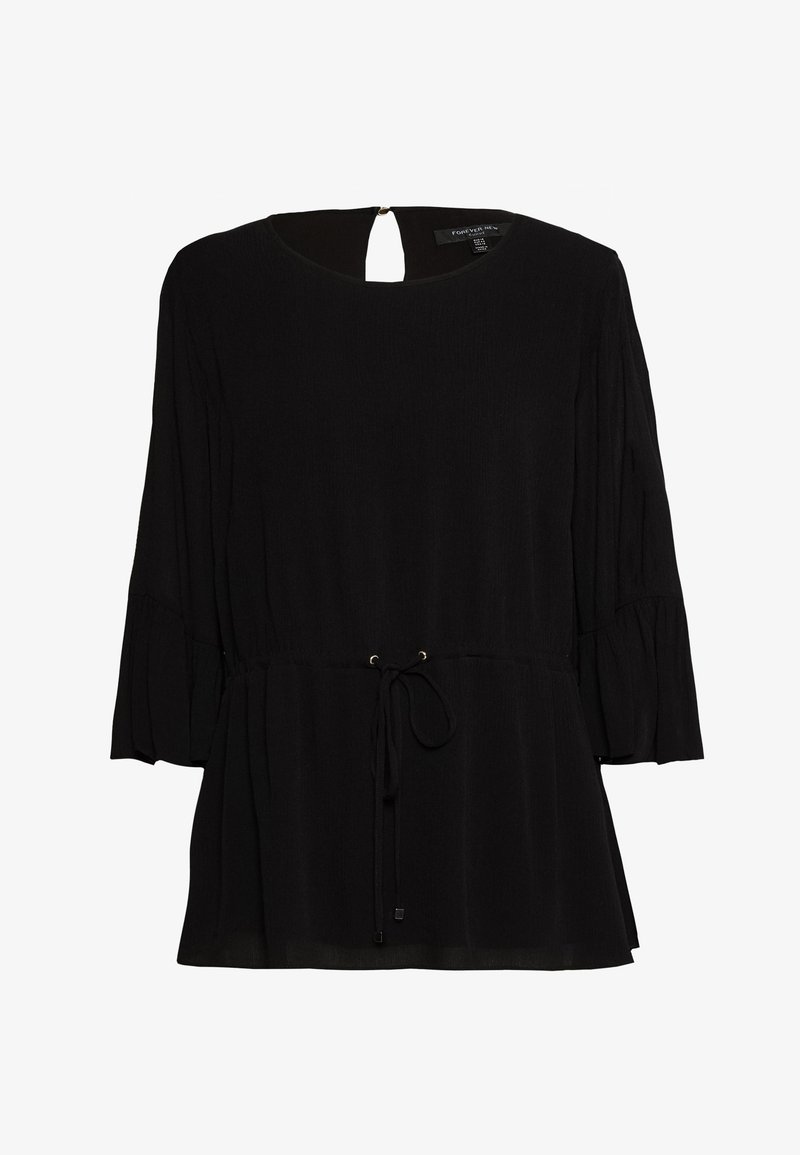 Forever New Curve - TAMMY FRILL SLEEVE CURVE BLOUSE - Blouse - black