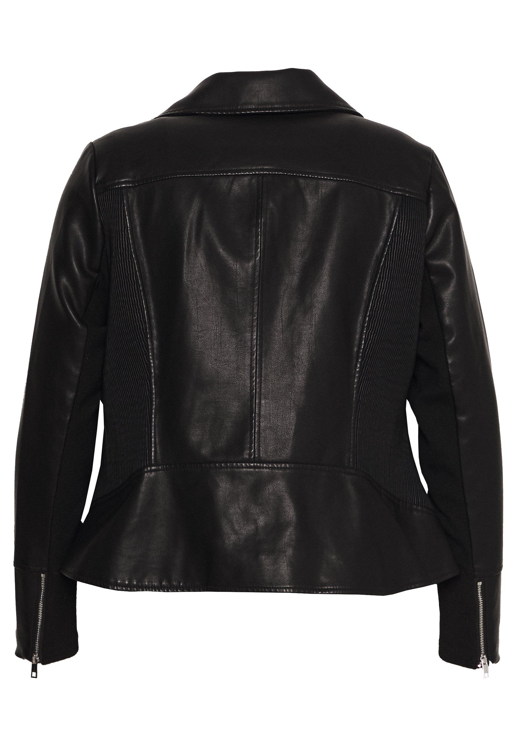Forever New Curve Glam Biker Jacket - Jacka I Konstläder Black