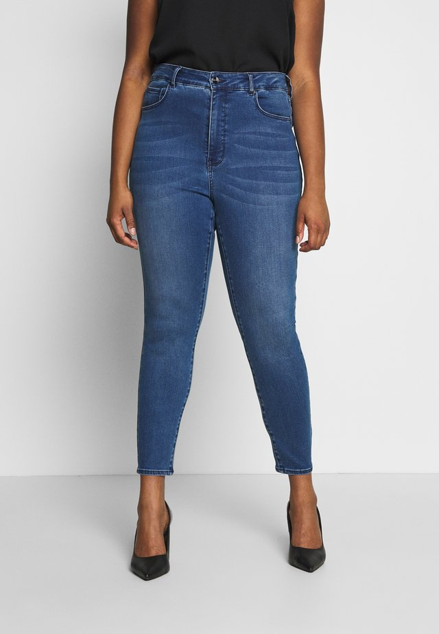 BELINDA HIGH RISE ANKLE GRAZER - Jeansy Skinny Fit - royal blue