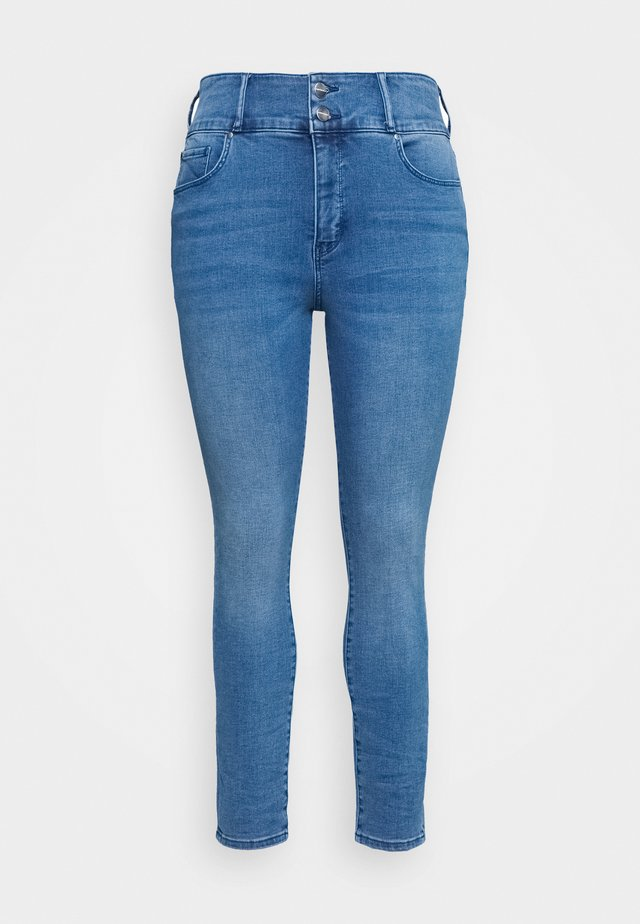 MONICA CURVE HIGH RISE ANKLE GRAZER - Jeansy Skinny Fit - blue wash