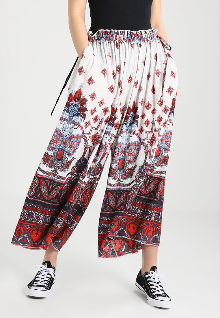 Free People - DUST PRINTED WIDELEG - Pantalon classique - ivory