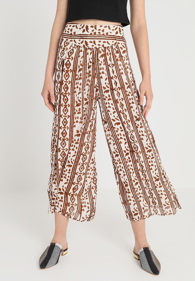 Free People - ELENA PRINTED SOFT PANT - Kalhoty - ivory