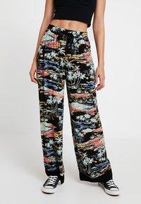 Free People - LAGOON PANT - Spodnie materiałowe - black - 0