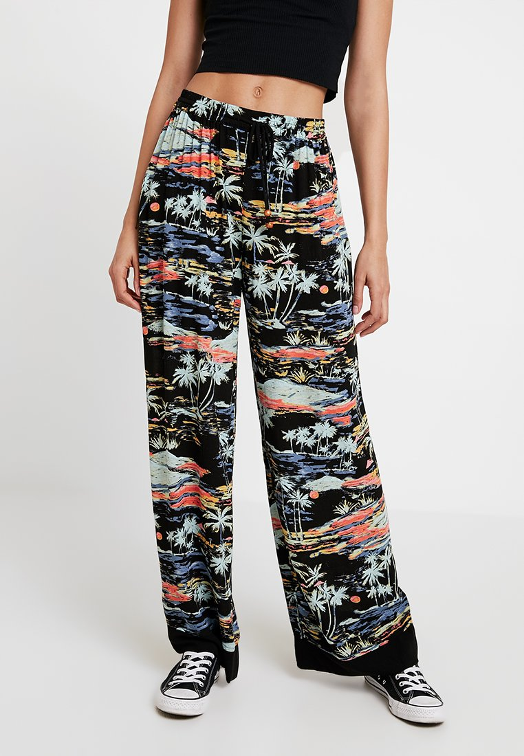 Free People - LAGOON PANT - Spodnie materiałowe - black