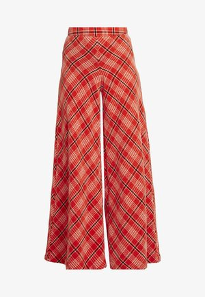 WONDERLAND WIDE LEG - Trousers - red