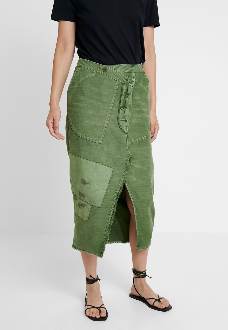 Free People - ECHO SKIRT - Pencil skirt - moss