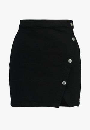 NOTCHED - Denim skirt - black