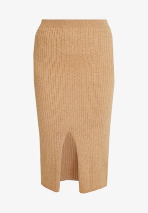 SKYLINE MIDI - Pencil skirt - beige
