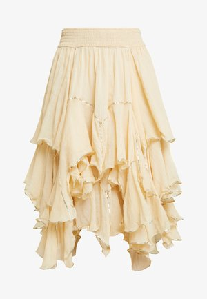 HANDKERCHIEF RUFFLE - Áčková sukně - cream
