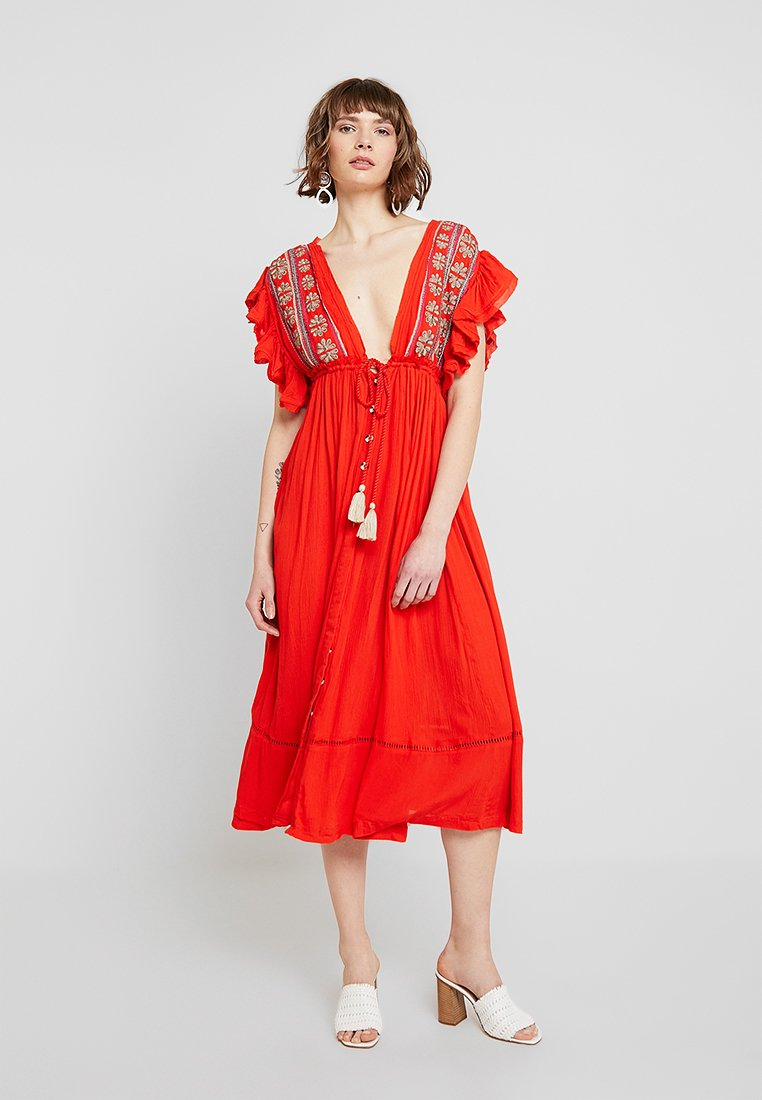 Free People - WILL WAIT FOR YOU MIDI - Maxikleid - red