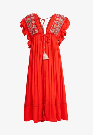 WILL WAIT FOR YOU MIDI - Robe longue - red