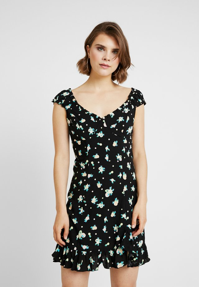 LIKE A LADY PRINTED MINI - Vestito estivo - black
