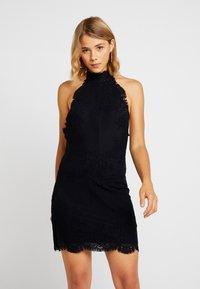 Free People - HARPER HIGH NECK SLIP - Cocktail dress / Party dress - black - 0