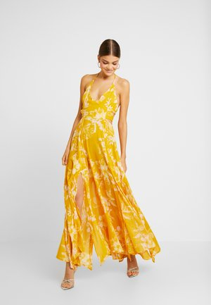 LILLE PRINTED - Maxi-jurk - yellow