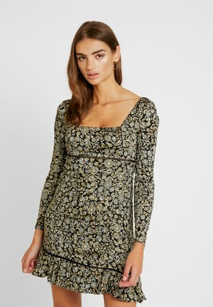 BOHEME MINI DRESS - Robe d'été - black
