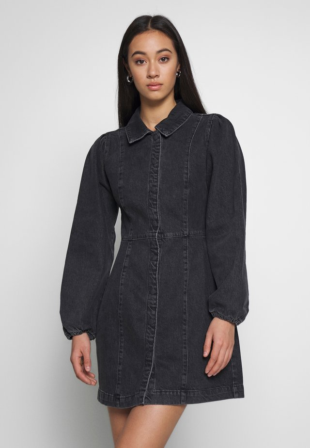 MIA MINI - Denim dress - black